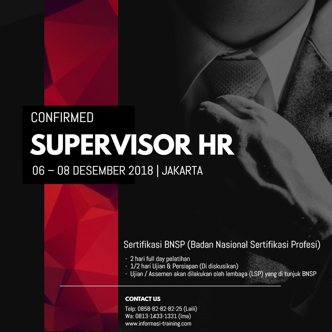 sertifikasi supervisor HR
