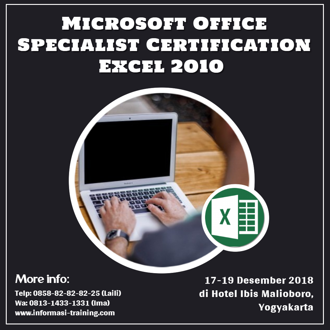 Excel 2010 Microsoft Office Specialist Certification Confirmed