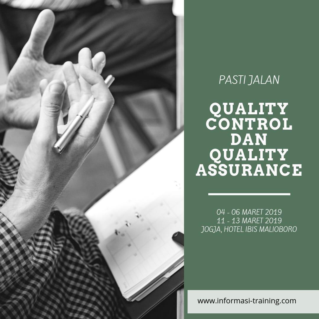 PENINGKATAN KUALITAS PRODUK DENGAN QUALITY CONTROL DAN QUALITY ASSURANCE