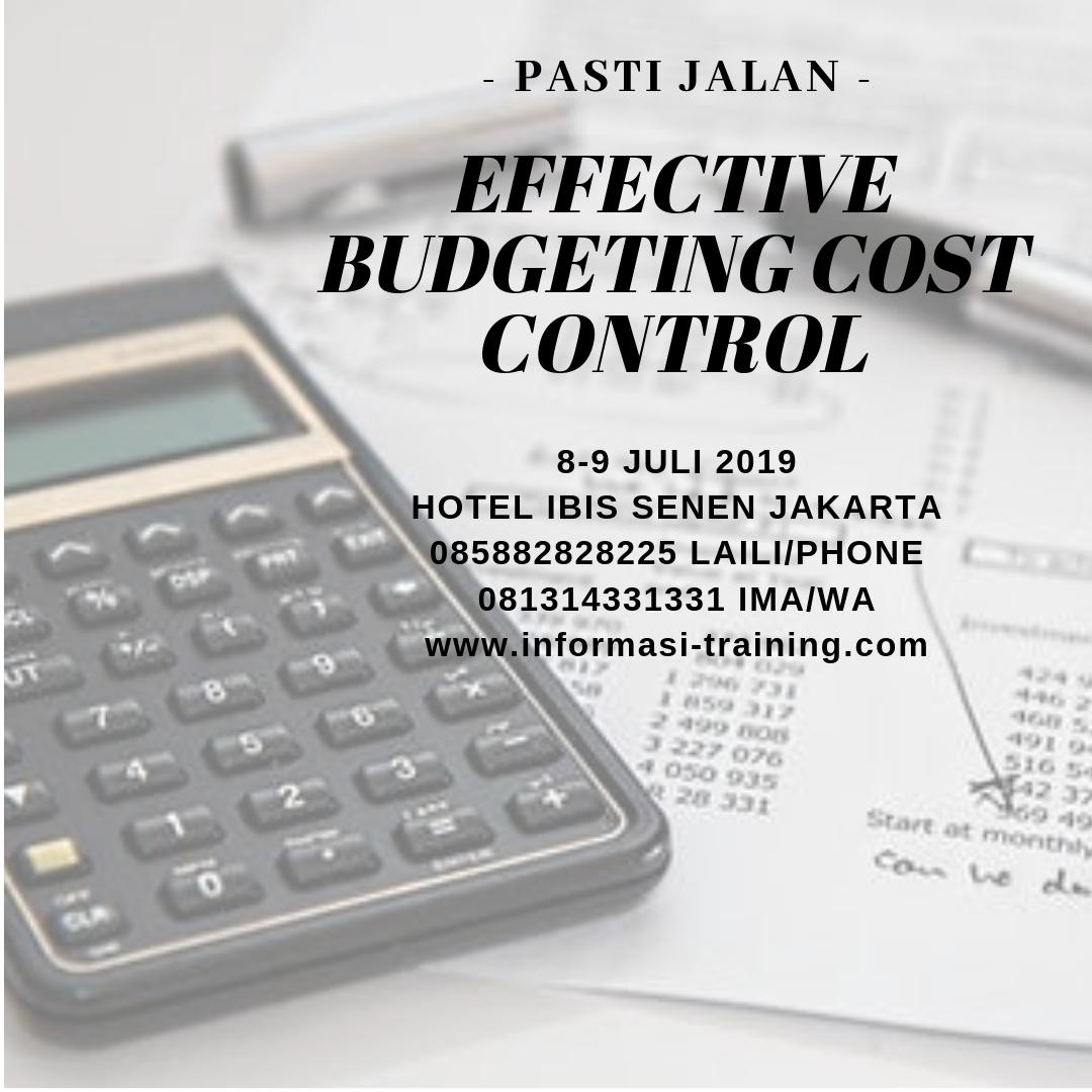 TRAINING BUDGET & COST