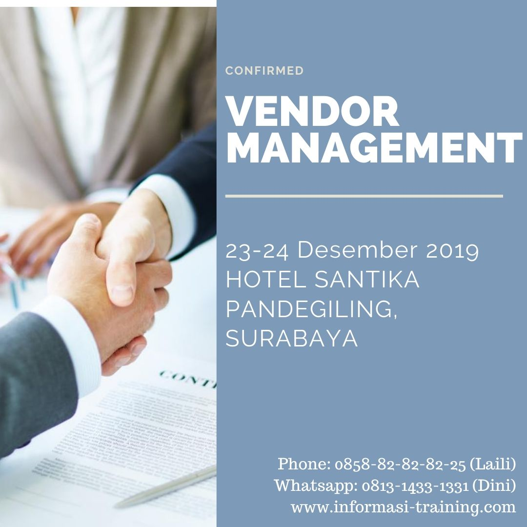 VENDOR MANAGEMENT – Pasti Jalan