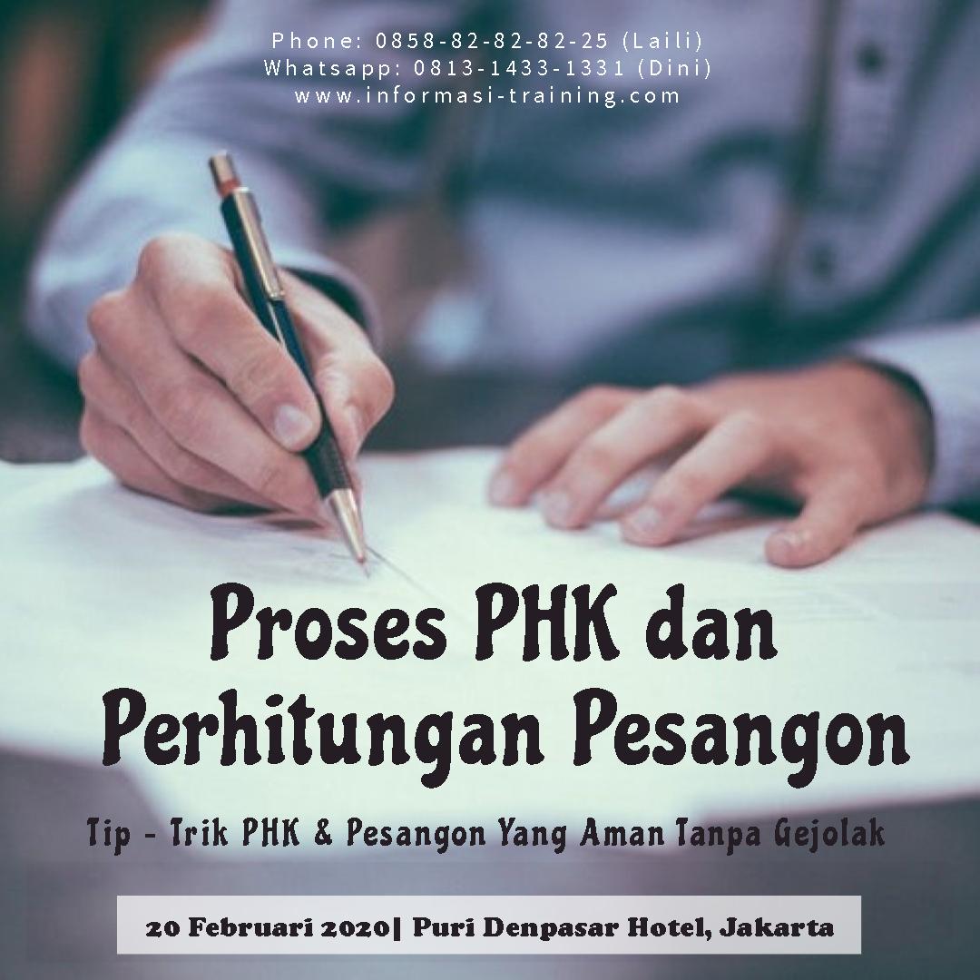 Training PHK, Pesangon