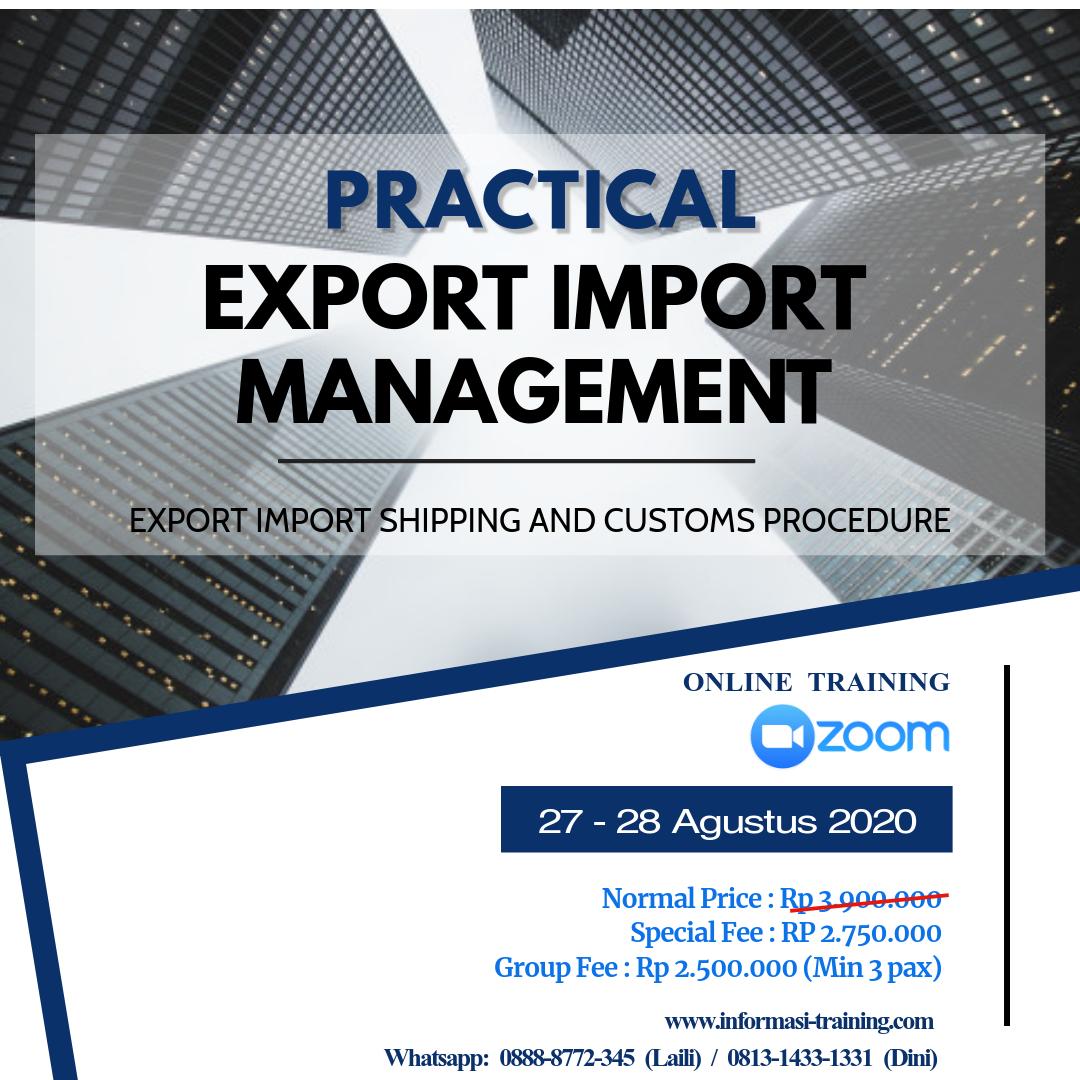 Training Export Import